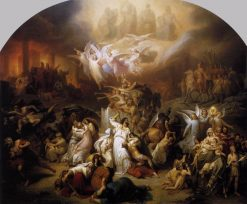 The Destruction of Jerusalem by Titus | Wilhelm von Kaulbach | Oil Painting