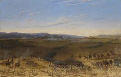 The Battle at Bar-sur-Aube | Wilhelm von Kobell | Oil Painting