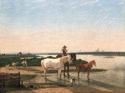 Isar Landscape near Munich | Wilhelm von Kobell | Oil Painting