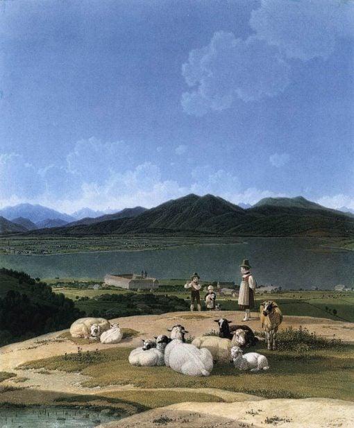 View of Tegernsee   Wilhelm von Kobell   Oil Painting