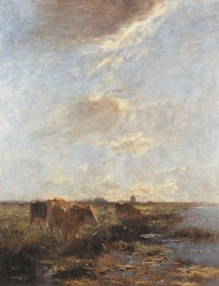 Polder Landscape with Cows (Summer Day) | Willem Maris | Oil Painting