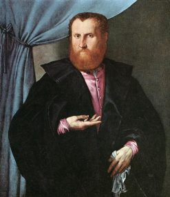 Man in a Black Cloak | Lorenzo Lotto | Oil Painting