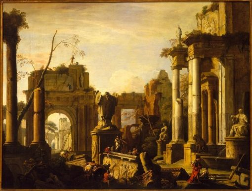 Imaginary Scene with Ruins and Figures | Marco Ricci | Oil Painting