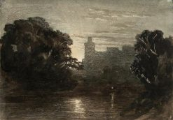 Moonlit Scene of Windsor Castle