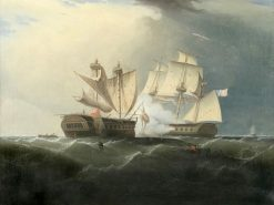 "Capture of H.M.S. ""Macedonian"" by the U.S. Frigate ""United States"" 