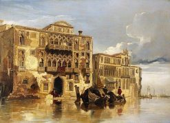 A Venetian Scene | William James Muller | Oil Painting