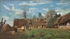 A Farmhouse in Normandy | Constant Troyon | Oil Painting