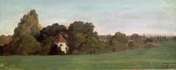 Landscape with Chapel | Franz von Lenbach | Oil Painting