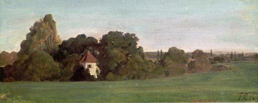 Landscape with Chapel | Franz von Lenbach | Oil Painting