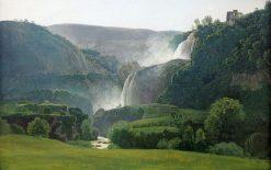 Falls at Tivoli | Johann Martin von Rohden | Oil Painting