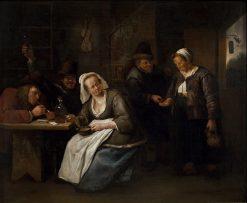 Scene in a Tavern | Jan Havicksz. Steen | Oil Painting