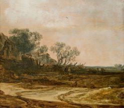 Landscape with Peasants | Jan van Goyen | Oil Painting