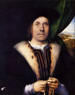 Portrait of a Man with a Rosary | Lorenzo Lotto | Oil Painting
