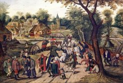 Country Dancing in a Village | Pieter Brueghel the Younger | Oil Painting