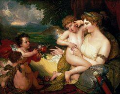 Venus Comforting Cupid Stung by a Bee | Benjamin West | Oil Painting