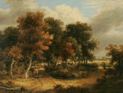 Wood Scene   James Stark   Oil Painting