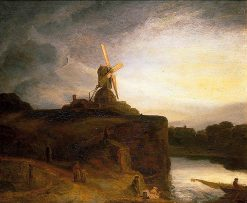 The Mill (after Rembrandt van Rijn) | John Crome | Oil Painting