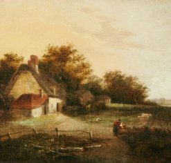 Landscape with a Cottage and Trees | John Crome | Oil Painting