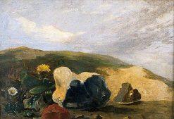 Study of Flints | John Crome | Oil Painting