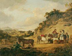 Peasants in a Welsh Landscape | Julius Caesar Ibbetson | Oil Painting