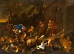 Noah and the Animals Entering the Ark | Giovanni Castiglione | Oil Painting