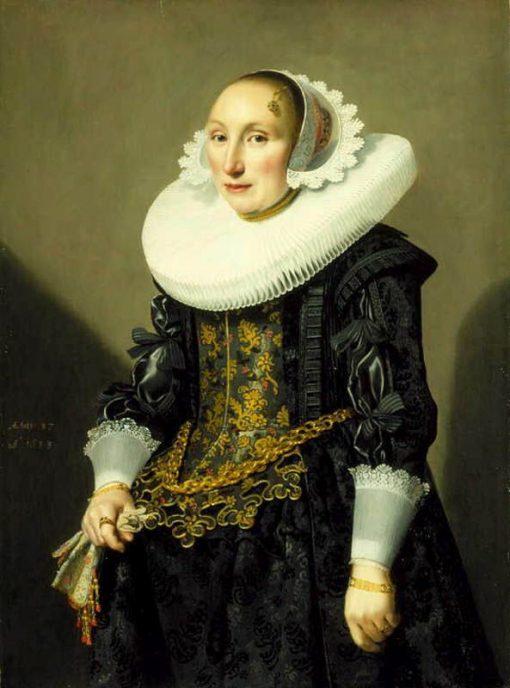 Portrait of Adriana van der Aa | Jan Daeman Cool | Oil Painting