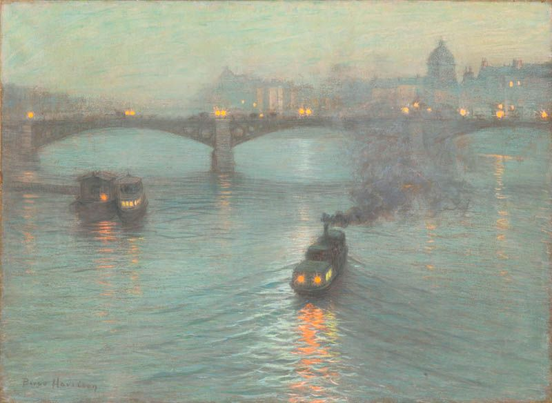 Evening on the Seine   Lowell Birge Harrison   Oil Painting