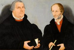 Martin Luther and Philipp Melanchthon | Lucas Cranach the Elder | Oil Painting