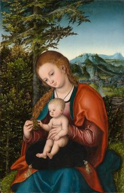 Madonna and Child in a Landscape | Lucas Cranach the Elder | Oil Painting