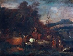 Pastoral Scene   Dirck van den Bergen   Oil Painting