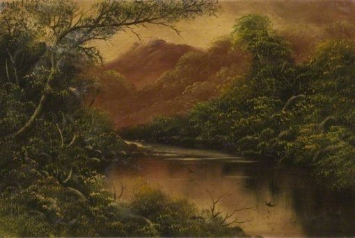 River Scene with Trees and Mountains | William Collins | Oil Painting