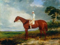 1844 Oaks Winner 'Princess' with Jockey | Harry Hall | Oil Painting