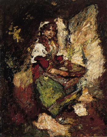 The Olive Seller | Adolphe Joseph Thomas Monticelli | Oil Painting