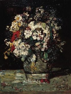 Flowers | Adolphe Joseph Thomas Monticelli | Oil Painting