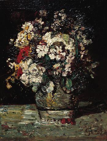 Flowers | Adolphe Joseph Thomas Monticelli | Oil Painting