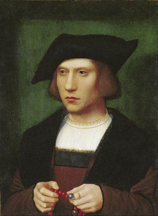 Young Man with a Rosary | Adriaen Isenbrandt | Oil Painting