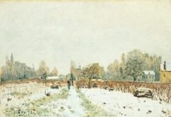 Louveciennes in the Snow | Alfred Sisley | Oil Painting