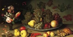 Still Life with Fruits and Flowers | Balthasar van der Ast | Oil Painting