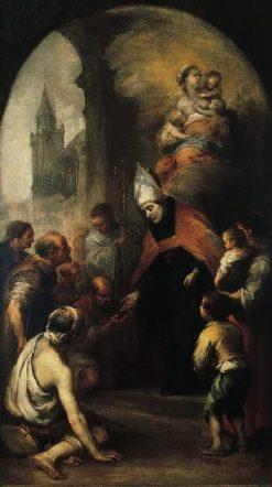 Saint Thomas of Villanueva Giving Alms to the Poor | BartolomE Esteban Murillo | Oil Painting
