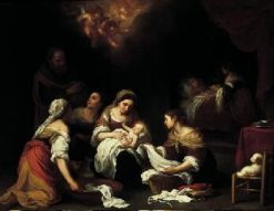 Birth of Saint John the Baptist | BartolomE Esteban Murillo | Oil Painting