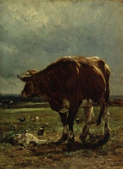 Bull and Chickens | Constant Troyon | Oil Painting