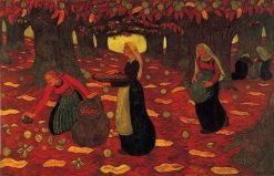 The Chestnut Gatherers | Georges Lacombe | Oil Painting