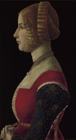 Profile of a Lady | Giovanni Ambrogio de Predis | Oil Painting