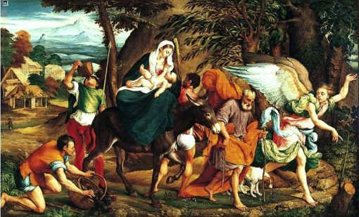 The Flight into Egypt | Jacopo Bassano | Oil Painting
