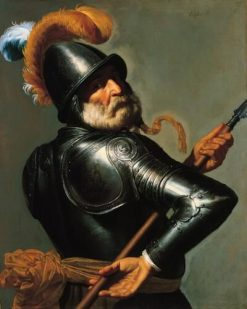 Man in Armour Holding a Pike | Jan van Bijlert | Oil Painting