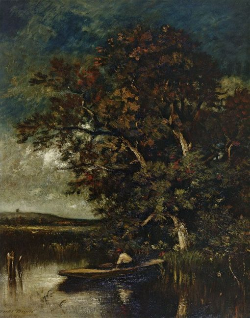 Large Trees at Water's Edge | Jules DuprE | Oil Painting