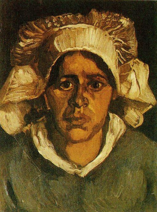 Head of Gordina de Groot in a White Bonnet | Vincent van Gogh | Oil Painting