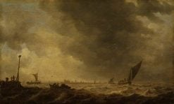 A River Estuary | Jan van Goyen | Oil Painting