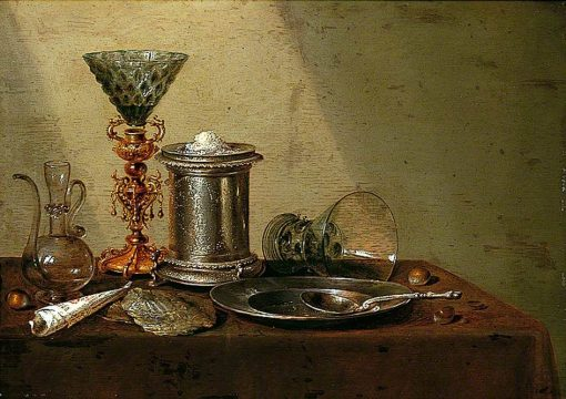 Still Life with an Upturned Roemer | Willem Claesz. Heda | Oil Painting