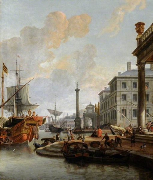 Capriccio View of a Seaport | Abraham Jansz. Storck | Oil Painting
